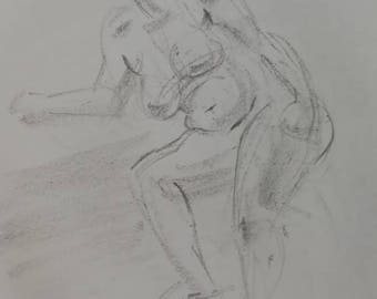 Semi reclining woman