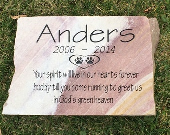 Large personalized memorial rainbow stone