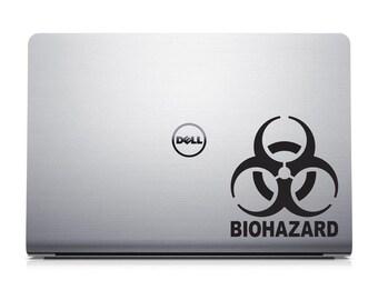 Biohazard Laptop Decal - Hazardous Material Sticker - MacBook Decal