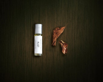 Rust Fragrance Oil for Men, Orange Citrus Clove Dirt Cologne