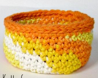 3 Crochet Basket PATTERNS - Fast Easy DIY Holliday Kitchen Bathroom Office Tabletop Storage  Instant Download PDF