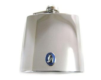 Blue Penguin 6 oz. Stainless Steel Flask