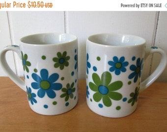 MEMORIAL DAY SALE Sale vintage pedestal flower mugs