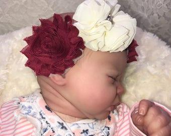 Shabby Chic Newborn Headband