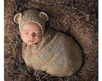 Newborn baby photography boy, girl crochet costume outfit cute hat and sleeping bag