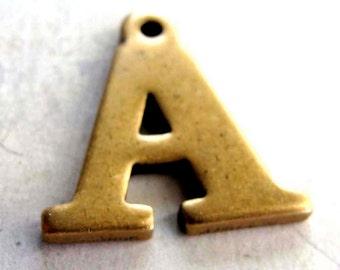 Vintage Brass Letter A Pendant (1X) (A627)