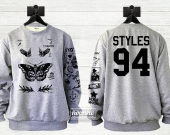 Butterfly Styles Tattoos Sweatshirt Sweater Jumper Pullover Shirt – Size S M L XL