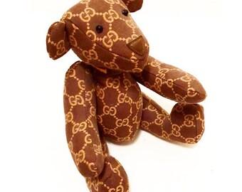 Authentic Gucci Monogram GG Teddy Bear