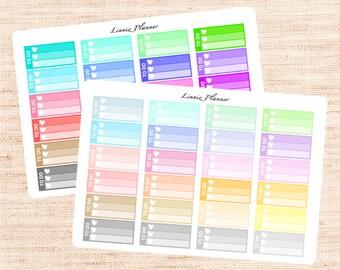 Small Checkbox Functional Basics (matte planner stickers, Erin Condren, Happy Planner)