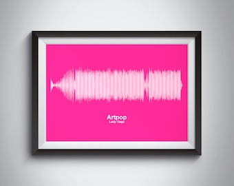 Any Song Sound Wave Print Fully Personalized Soundwave Picture - Completely Personalisable - A5 A4 A6