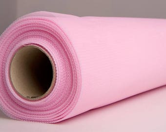 plain pink soft tulle polyester 150 cm width