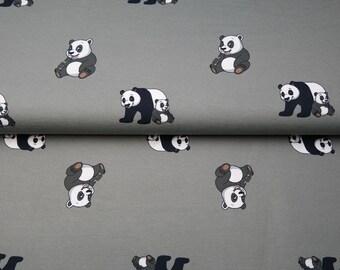 Pandas in Grey Cotton Jersey