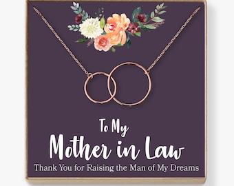 Mother-In-Law Necklace: Mother-In-Law, Mother-In-Law Gift, Mother-In-Law Necklace, To My Mother-In-Law Card, Funny, 2 Interlocking Circles