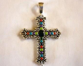 Vintage Ornate Cross Pendant