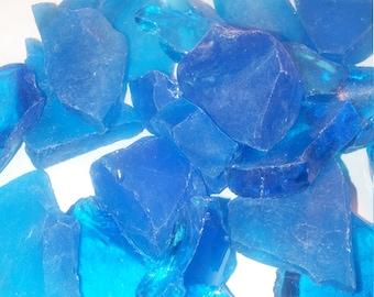 Beach Glass  Sea Glass 1 lb  pound , 16 ounces approx turquoise  teal Aqua blue Tumbled Glass
