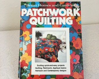Patchwork & Quilting, Better Homes and Gardens, craft book, vintage book