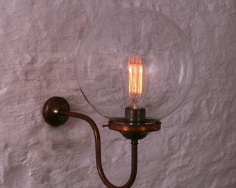 Riad 25cm Clear Globe Wall light