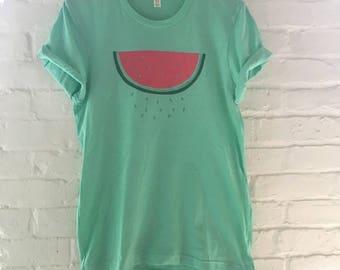 Watermelon Shirt, Food Shirt, Fruit Shirt, Screen Print Shirt, Soft Style Tee