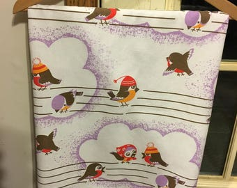 Awesome Retro 80 x 58 Bird on Wire Tablecloty