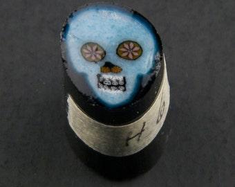 Blue Skull by Greg Chase Murrine Boro Cane 6 grams - 144 G