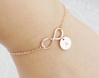 Personalized Bracelet, Infinity Bracelet, Initial Bracelet, Friendship Bracelet, Bridesmaid Gifts, Christmas gift for her, monogram jewelry