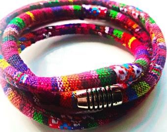 Textile Bracelet, Tribal Woven Bracelet, Southwest Bracelet, Hippie Bracelet, Boho Bracelet