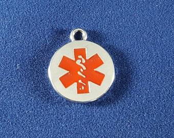 5 Medical Symbol Charms - Medical Symbol Pendants - Medical Symbol - Medical Charms -  Rhodium Plated - 17mm x 21mm  --(X7-12169)