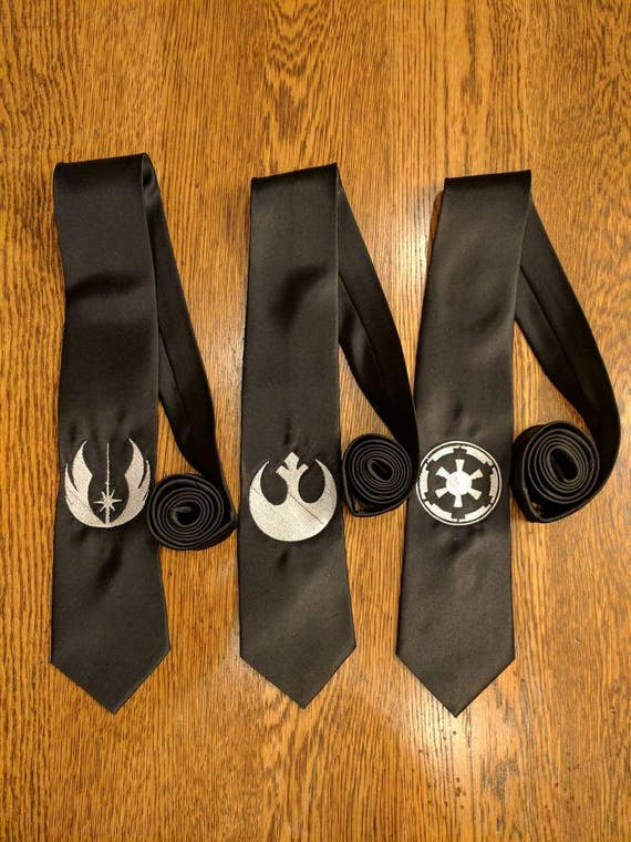 Star Wars Custom Tie (star wars, the dark side, the light side, the force, tie, Jedi, rebel force, logo, may the 4th, necktie, empire)
