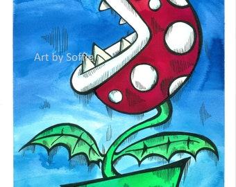 Pirannha Planty - Mario Inspired Print