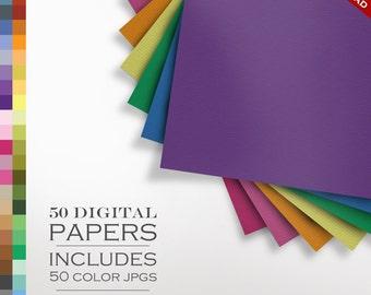 80% OFF SALE 50 Piece Laid Digital Paper Pack - Laid Texture Scrapbook Paper - Laid Paper Background Texture Pattern Scrapbook Paper