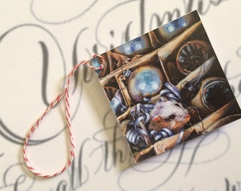 Mouse Holiday Gift Tag, Home 'Till The Holidays, Christmas Gift Tag, Mouse,