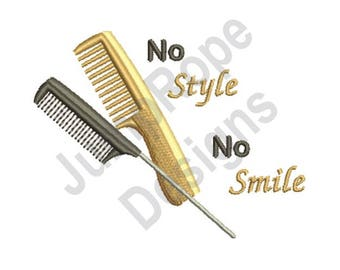 Hair Styling - Machine Embroidery Design