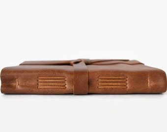 Personalized Writing Notebook, Leather Writing Journal, Rustic Leather Book, Travel Notebook, Leather Travel Journal, Gldn 6x8 Light Brown