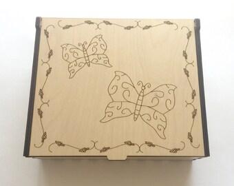 Butterflies Essential Oil Box, 42 Slots, Aromatherapy Storage Box, Essential Oil Case, Aromatherapy Oil Organizer, Essential Oil Display