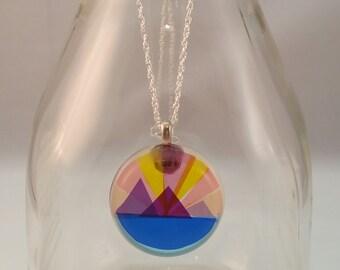 Sierra Sunrise Handmade Pendant