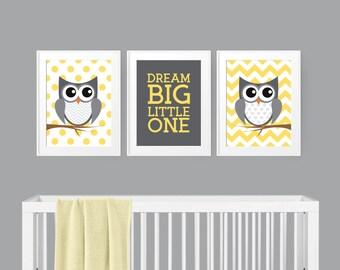 Owl Nursery Decor - Woodland Nursery - Gender Neutral Nursery - Nursery Wall Art - Nursery Decor - Kids Room Decor - Baby Shower Gift idea