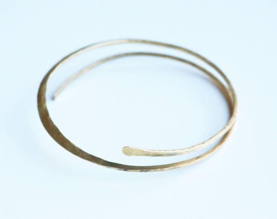 Forged Brass Bangle