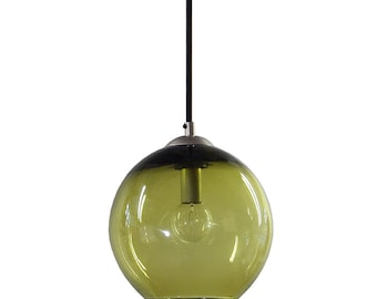OLIVE Hand Blown Glass Pendant Lighting Bubble Glass Pendant Light Made in USA