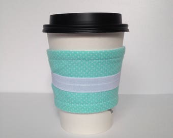 Seafoam Polka Dot Drink Sleeve