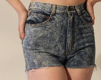 Vintage Shorts Petite Shorts Denim Shorts Acid Wash Shorts Small Shorts High Waist Shorts Cut Off Shorts Light Wash Shorts 80s Jean Shorts