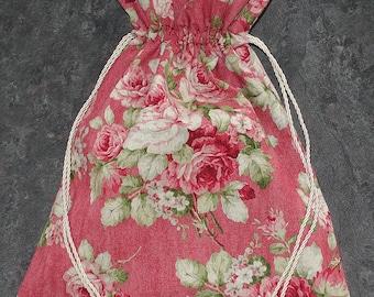 Reversible Roses Drawstring Bag