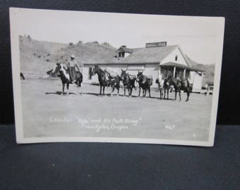 Rppc photo post card pack animals Frenchglen Or
