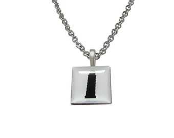 Square Leaning Tower of Pisa Pendant Necklace