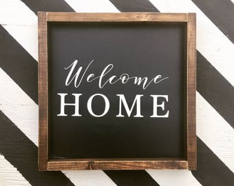 Welcome Home - Wood Sign