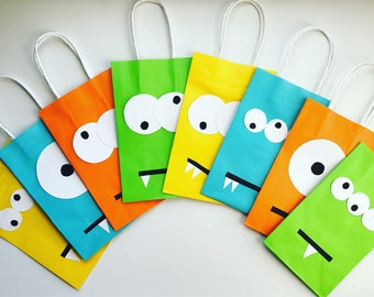 Little monster party favor bags