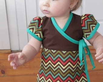 The Bubblegum Dress PDF sewing pattern - newborn - 14y - Wrap dress knit & woven