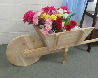Hand Built Out Side Planter, Wheel Barrow, Pick up only