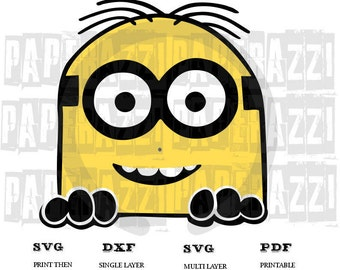 Minion SVG DXF for Cricut Design Space - Silhouette Studio