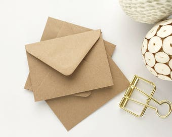 100 Mini Seed Envelopes Gift Card Envelopes Small Envelopes Kraft recycled for thank you cards notecards wedding favors 4.3/8x3.1/4 112x83