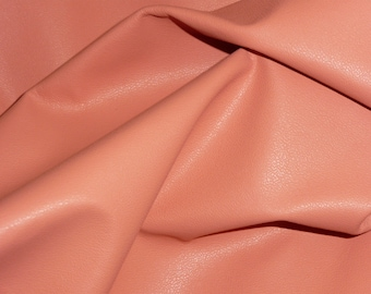 "Leather 8""x10"" PLONGE Coral Garment / Purse Full grain THIN Cowhide 1.75oz/.7 mm - PeggySueAlso™ E2843-03 Full hides available"